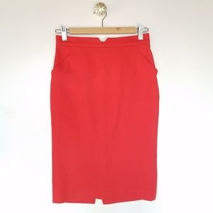 ZARA Pencil skirt with pockets and slit size XS